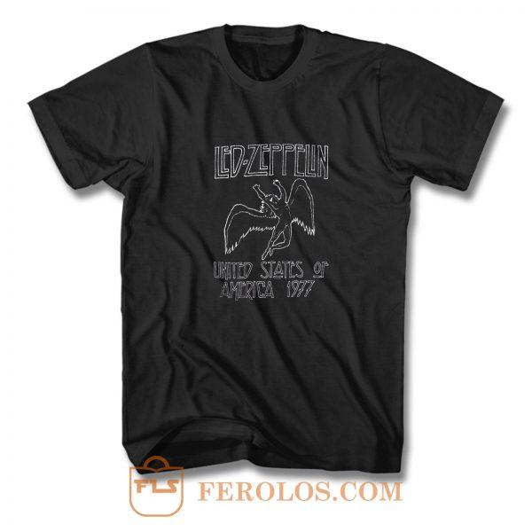 Led Zeppelin 1977 Us Tour Icarus T Shirt