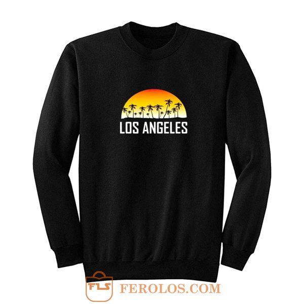 Los Angeles California Sunset And Palm Trees Beach Vacation Sweatshirt