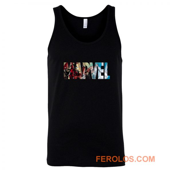 Marvel Logo Ironman Tank Top