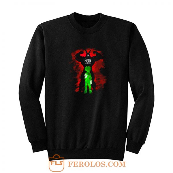 My Hero Academia Izuku Deku Midoriya And All Might Sweatshirt