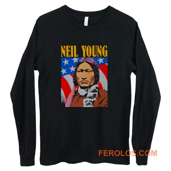 Neil Young Old Concert Tour Logo Music Legend Long Sleeve