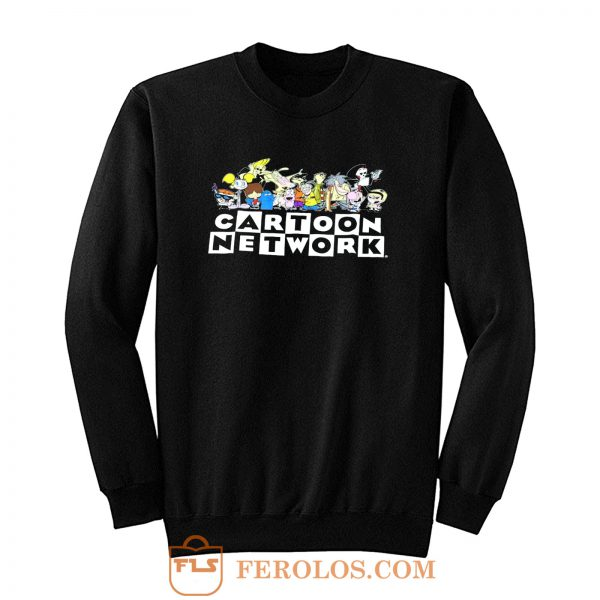 New Cartoon Network 90s Character Squad Mens Vintage Retro Sweatshirt