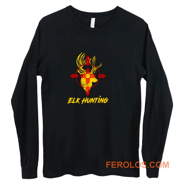 New Mexico State Flag Elk Hunting Long Sleeve