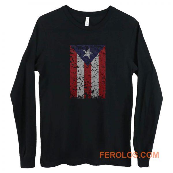Puerto Rico Rican Beisbol Futbol Flag Long Sleeve