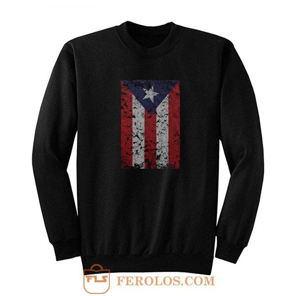 Puerto Rico Rican Beisbol Futbol Flag Sweatshirt