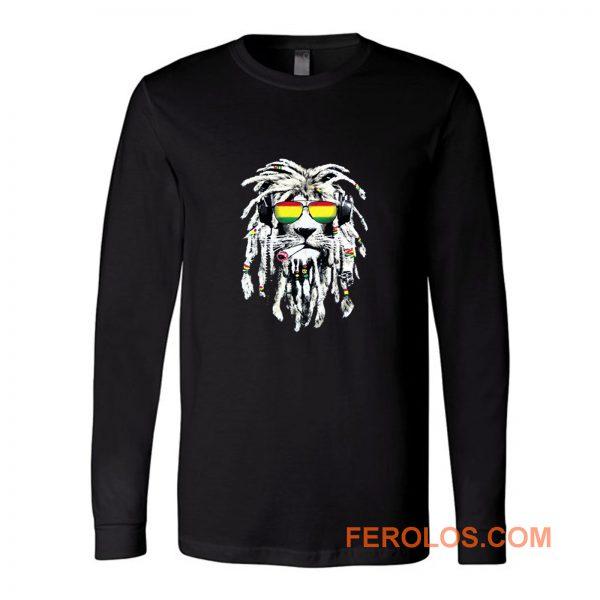 Rasta Lion Reggae Smoke Blunt Marijuana Weed Long Sleeve