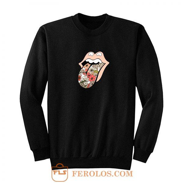 Rolling stones 70s floral Sweatshirt