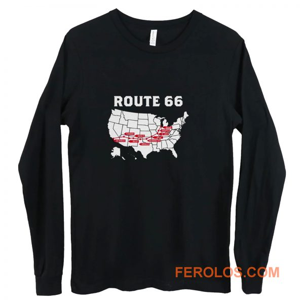 Route 66 Map Long Sleeve