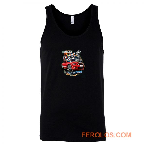 Shelby G.T. 500 Cobra Red Speedster Ford Motors Classic Cars And Trucks Tank Top