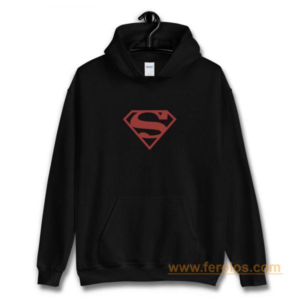 Superboy Superman Costume Red On Black Shield Dc Comics Hoodie