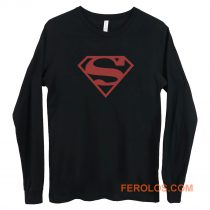 Superboy Superman Costume Red On Black Shield Dc Comics Long Sleeve