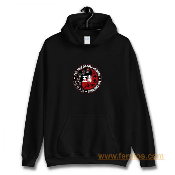The 5 Five Deadly Venoms Shaolin Squad Retro Cult Kungfu Movie Hoodie