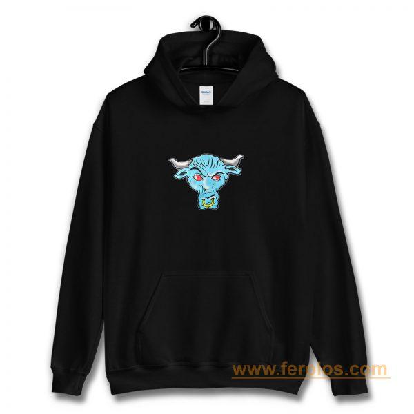 The Rock Blue Brahma Bull Logo Hoodie