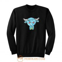 The Rock Blue Brahma Bull Logo Sweatshirt