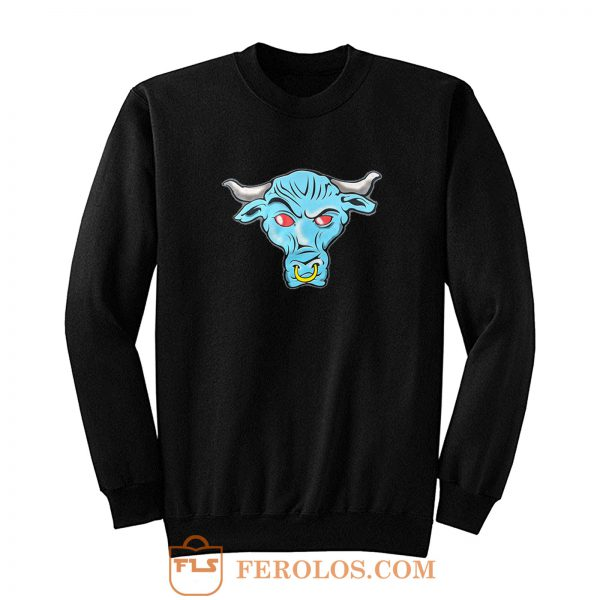 The Rock Blue Brahma Bull Logo Sweatshirt
