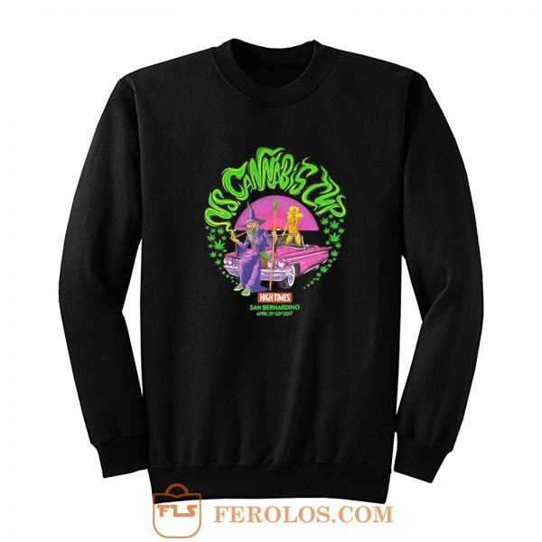 US Cannabis Cup Weed Wizard April 2017 Sweatshirt