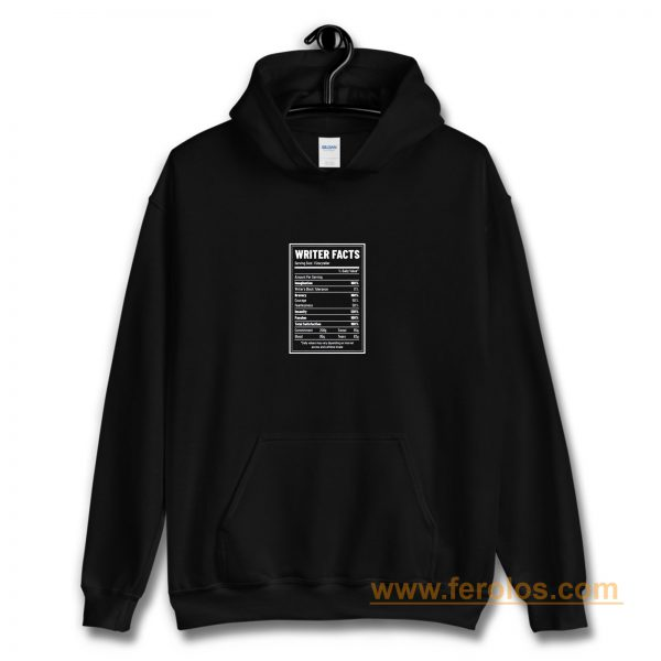 Writer Nutrition Facts Hoodie