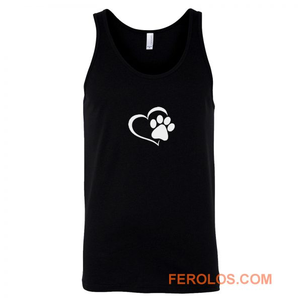 heart and Paw Dog Tank Top