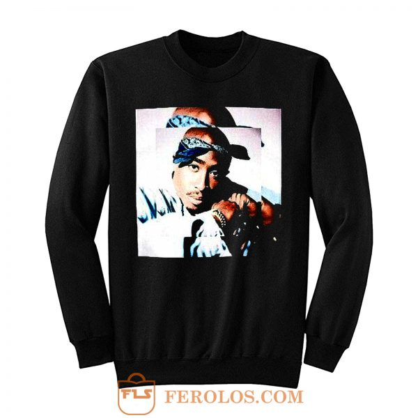 2pac Blues Tupac Portrait Sweatshirt