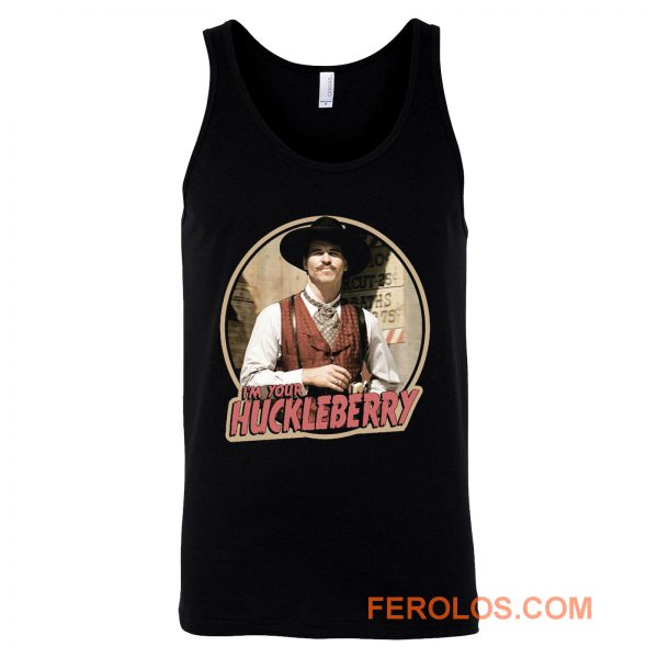 90s Western Classic Tombstone Doc Holliday Im Your Huckleberry Tank Top