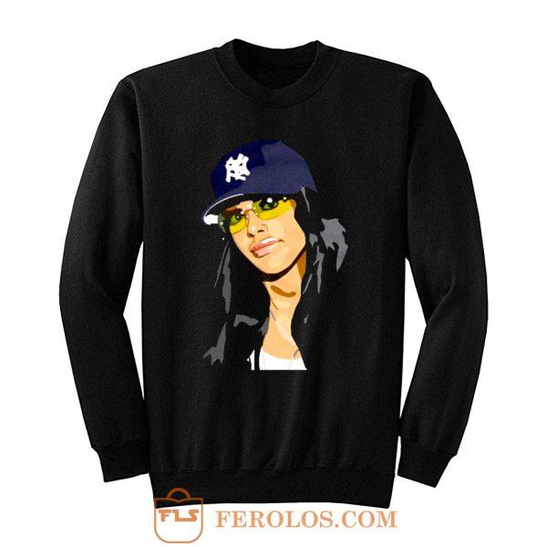 Aaliyah New York Trucker Caps Sweatshirt