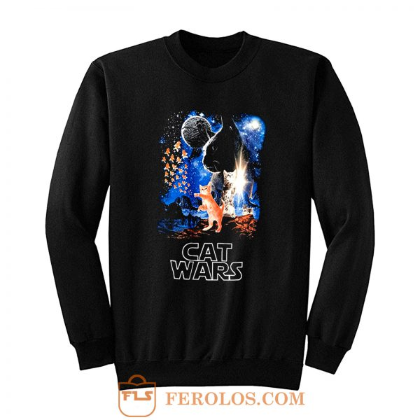 Adult Humor Cat Wars Parody Star Wars Sweatshirt