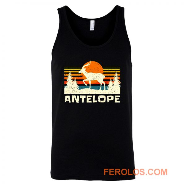 African Antelope Retro Wildlife Lover Tank Top