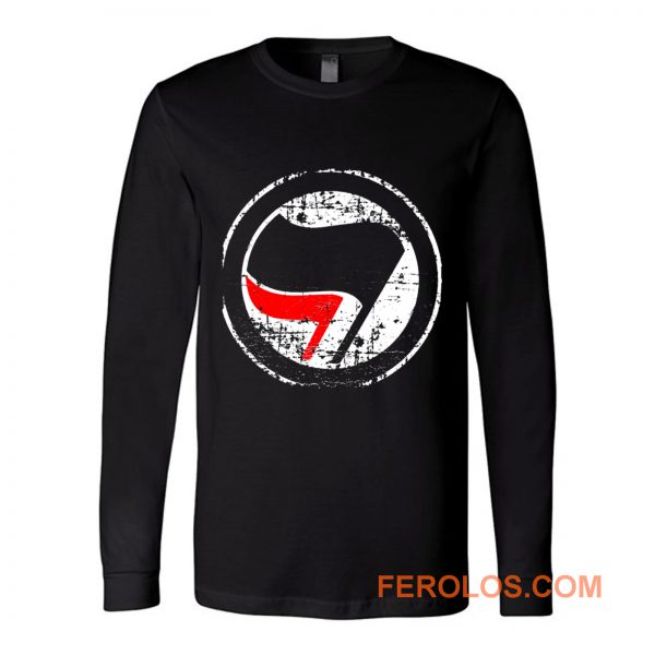 Antifa Red and Black Flag Antifascist Action Long Sleeve