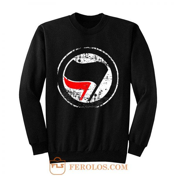 Antifa Red and Black Flag Antifascist Action Sweatshirt