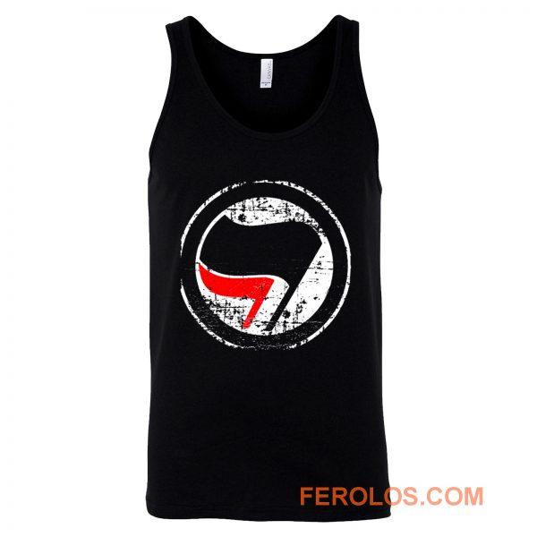 Antifa Red and Black Flag Antifascist Action Tank Top