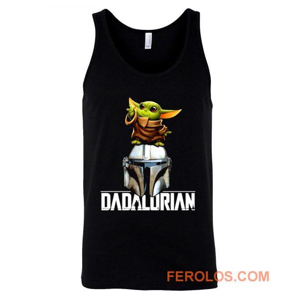 Baby Yoda Dadalorian Funny Star Wars Tank Top