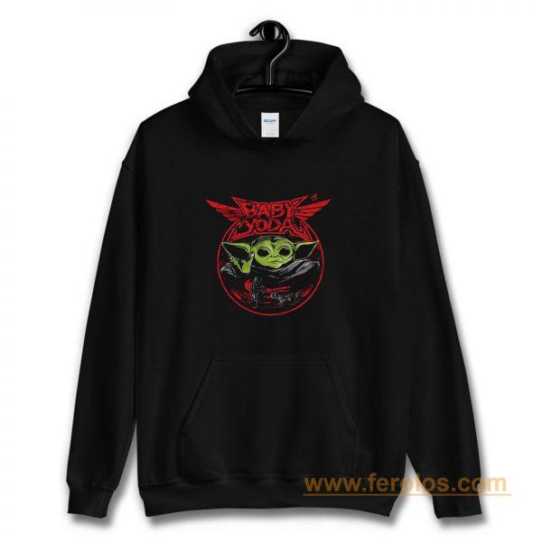 Baby Yoda Metal Heavy Metal Band Hoodie