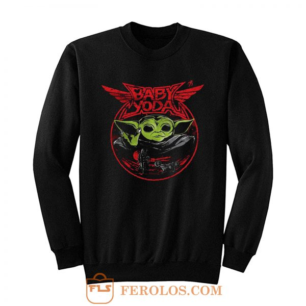 Baby Yoda Metal Heavy Metal Band Sweatshirt