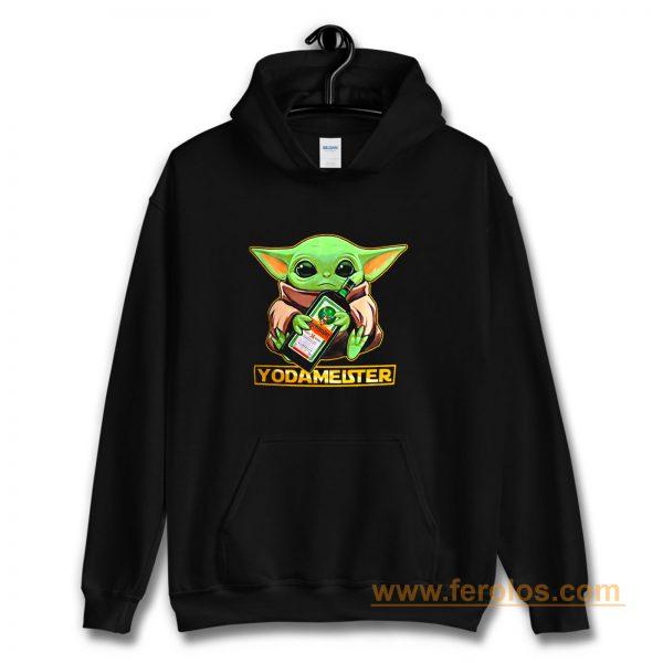 Baby Yodarmeister Mandalorian Jagermeister Funny Parody Hoodie