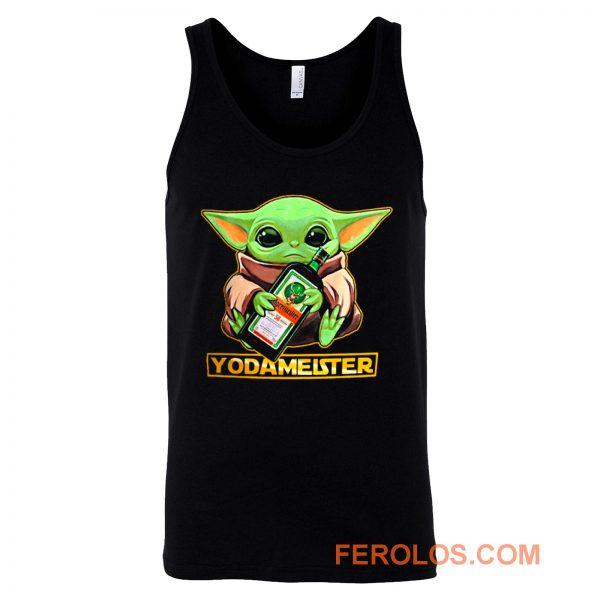 Baby Yodarmeister Mandalorian Jagermeister Funny Parody Tank Top