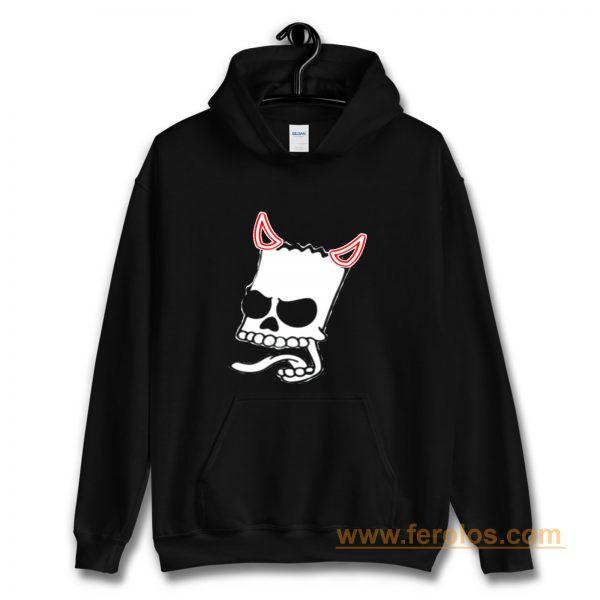 Bart Simsons Skul Devil Funny Hoodie