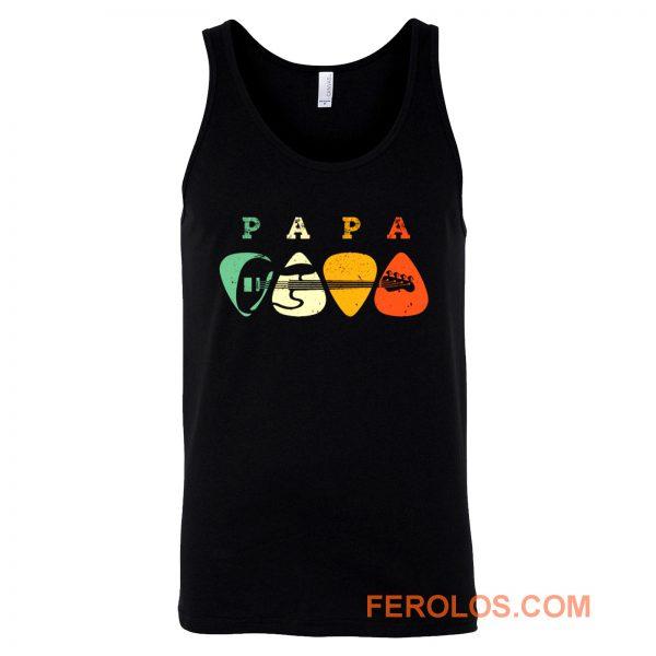 Bass Guitar Pick Shirt Papa Guitarist Tank Top