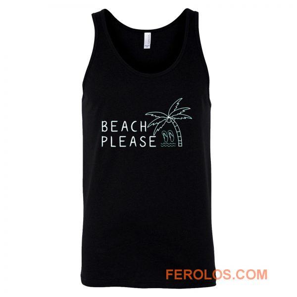 Beach Please Quarantined Summer Tank Top