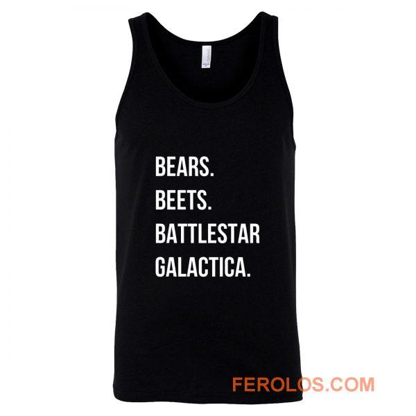 Bears Beets Battlestar Galactica Tank Top