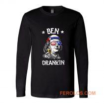 Benjamin Franklin Drinking America Long Sleeve