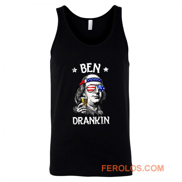 Benjamin Franklin Drinking America Tank Top