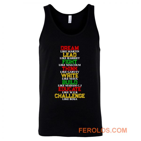 Black History and Historical Leaders Juneteenth Tank Top