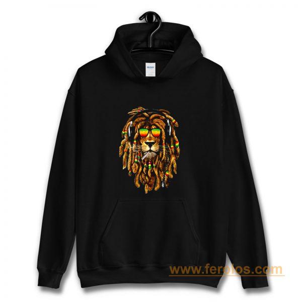 Bob Marley Smoking Joint Rasta One Love Lion Zion Hoodie
