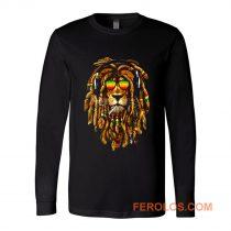 Bob Marley Smoking Joint Rasta One Love Lion Zion Long Sleeve