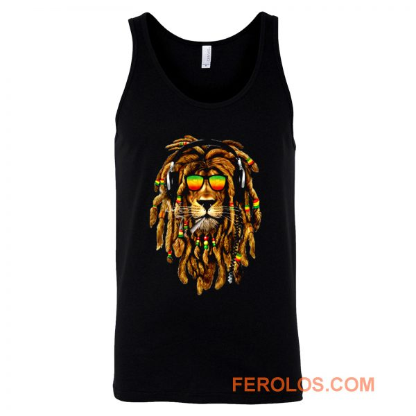Bob Marley Smoking Joint Rasta One Love Lion Zion Tank Top