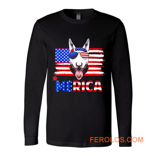 Bull Terrier Merica For 4th July United State Cute Long Sleeve