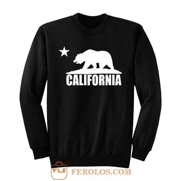 California Bear White Sweatshirt
