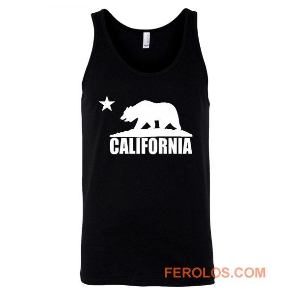 California Bear White Tank Top