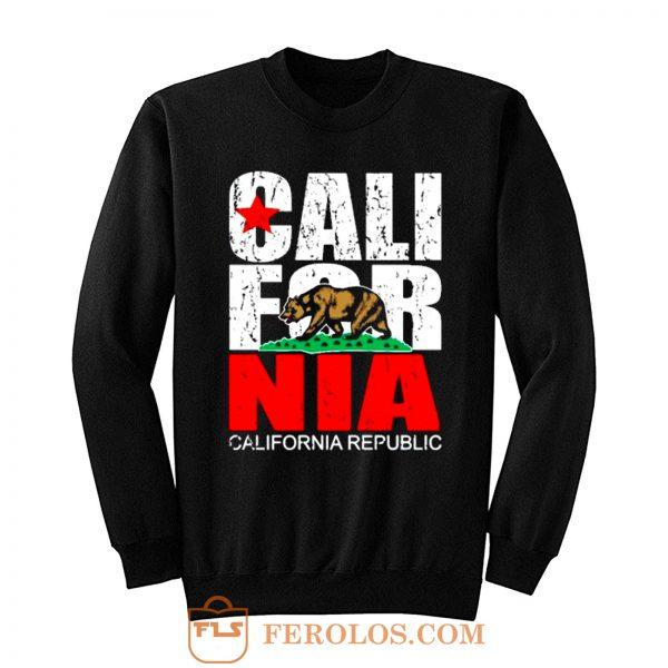 California Republic state Bear Flag Vintage Sweatshirt
