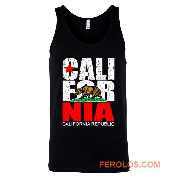 California Republic state Bear Flag Vintage Tank Top